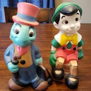 Walt Disney Productions Jiminy and Pinocchio